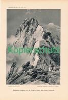 063 E.T.Compton Weißmies Bergsteiger Druck 1905 !! - Prints