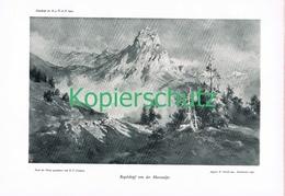 064 E.T.Compton Rogelskopf Masonalpe Druck 1905 !! - Prints
