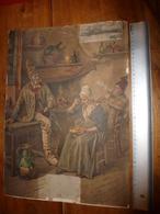 1899 Grand Carton Publicitaire Ancien Avec Calendrier Au Dos LA SAMARITAINE -Grands Magasins De Nouveautés à PARIS..etc - Plaques En Carton