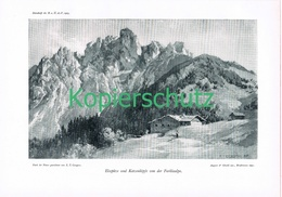 065 E.T.Compton Elsspitze Furklaalpe Alm Druck 1905 !! - Prints