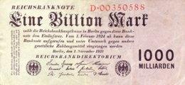Germany 1 Billion Mark 1923 EF/VF, Ro.126a/DEU-155a - [ 3] 1918-1933: Weimarrepubliek