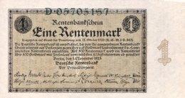 Germany 1 Rentenmark 1923 UNC, Ro.154a/DEU-199a (1923) - [ 3] 1918-1933 : República De Weimar