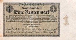 Germany 1 Rentenmark 1923 AU, Ro.154a/DEU-199a - [ 3] 1918-1933 : República De Weimar