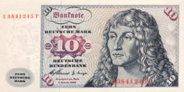 West Germany 10 Deutsche Mark 1960 UNC, Ro.263c/BRD-7c - [ 7] 1949-… : FRG - Fed. Rep. Of Germany