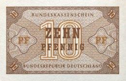 West Germany 10 Pfennig 1967 UNC, Ro.315/BRD-67 - [13] Bundeskassenschein