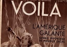 VOILA N°149 DU 27 JANVIER 1934 - ¨L'AMERIQUE GALANTE - UNE BLANCHE CHEZ DES NOIRS - Journaux - Quotidiens