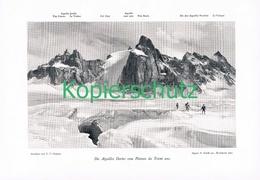 069 E.T.Compton Aiguilles Dorees Seilschaft Druck 1906 !! - Prints