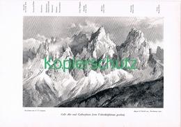 071 E.T.Compton Colle Alto Karnische Alpen Druck 1906 !! - Prints