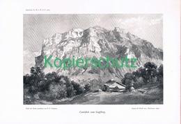 072 E.T.Compton Canisfluh Gopfberg Alm Druck 1907 !! - Prints