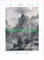 075 A E.T.Compton Monfalcone Karnische Alpen Druck 1907 !! - Prints
