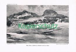 078-2 E.T.Compton Mont Perdu Pyrenäen Druck 1908 !! - Prints
