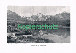 079-2 E.T.Compton Csorbersee Hohe Tatra Druck 1908 !! - Prints