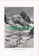 081-2 E.T.Compton Mont Maudit Montblanc Druck 1908 !! - Prints