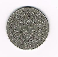 &  WEST AFRICAN STATES  100 FRANCS  1981 - Centrafricaine (République)