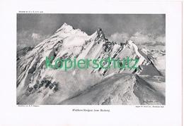 083-2 E.T.Compton Weißhorn Gletscher Walliser Druck 1908 !! - Prints