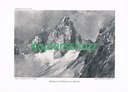084-2 E.T.Compton Monfalcone Karnische Alpen Druck 1908 !! - Prints