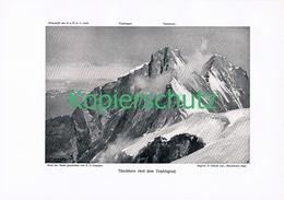 085-2 E.T.Compton Täschhorn Teufelsgrat Druck 1909 !! - Prints