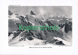 086-2 E.T.Compton Aiguille Des Glaciers Druck 1909 !! - Prints