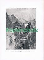 088-2 E.T.Compton Rochers Du Montblanc Druck 1909 !! - Prints