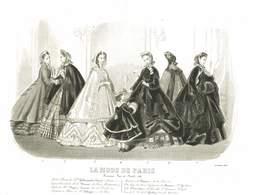 GRAVURE 1863 LA MODE DE PARIS - Estampas & Grabados