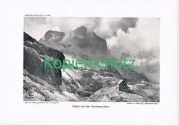 089-2 E.T.Compton Triglav Deschmann-Haus Druck 1909 !! - Prints