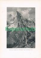 090-2 E.T.Compton Aiguille Noire Peteret Druck 1909 !! - Prints