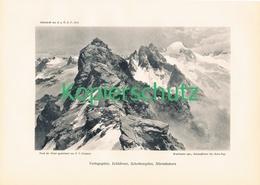 098 E.T.Compton Silvretta Silvrettahorn Druck 1912 !! - Prints