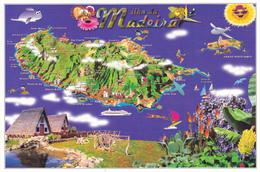 PORTUGAL - ILE DE MADERE / CARTE GEOGRAPHIQUE - Maps