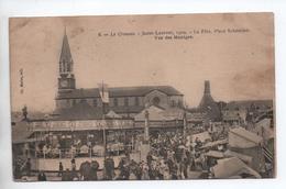 LE CREUSOT (71) - SAINT LAURENT 1904 - LA FETE PLACE SCHNEIDER - VUE DES MANEGES - Le Creusot