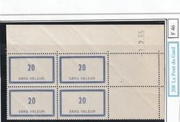 France Fictif Coin Daté Timbre Fictif 46  Du 7 2 1935 Coin En Haut A Droite Papier Quadrilé - Altri