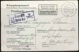 Carte Prisonniers De Guerre - Stalag VI J - Cachet Censure Illustré Artillerie Grenadier (rare). - Poststempel (Briefe)