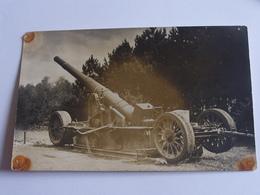 Militaire Materiel  Carte Photo  A Identifier  Canon Militaires En L Etat - Matériel