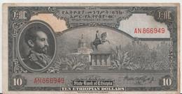 ETHIOPIA P. 14c 10 D 1947  VF - Ethiopie