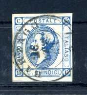 1863 REGNO N.13 15 CENTESIMI ANNULLATO II TIPO - 1861-78 Vittorio Emanuele II