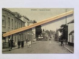 GENAPPE»CHAUSSÉE DE CHARLEROI «Panorama,animée,commerces,passage à Niveau 1921(Édit Henri - Lutte )E DESAIX . - Genappe