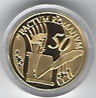 BELGIE - BELGIQUE 50€ Treaty Of Rome, Gold In Box With Certificate - Belgium