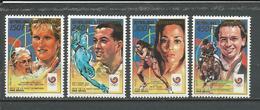 CENTRAFRIQUE  Scott 910-913 Yvert 803-805, PA381B ** (4) Cote 18,00 $ 1989 - Centrafricaine (République)