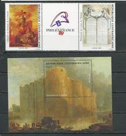 CENTRAFRIQUE  Scott 926a, 927 Yvert 806-807, BF98 ** (2+bloc) Cote 13,00 $ 1989 - Centrafricaine (République)
