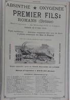 PUB 1902 - Absinthe Premier Romans 26 Drôme, Pernod Pontarlier 25 Doubs, Appareils à Gaz Éclairage P. Bardot Lyon - Advertising