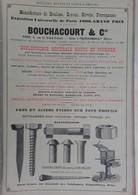 PUB 1902 - Boulons Rivet Bouchacourt Fourchambault 58, Brosse Vany Charleville 08, P. Ruf Nantes 44 - Advertising