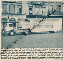 Ancienne Publicite (1961) : Cyclisme, Tour De France, VITABRILL, SERVICE COIFFURE, Caravane Publicitaire, Camion, Porto - Advertising