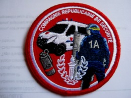ECUSSON TISSUS PATCH GENDARMERIE MOBILE CRS 1A ETAT EXCELLENT SUR VELCROS - Police & Gendarmerie
