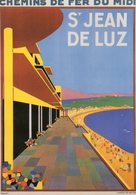 PUBLICITE BASQUE - SAINT JEAN DE LUZ  - Chemins De Fer Du Midi - Vierge - Tbe - Pubblicitari