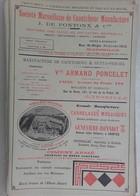 PUB 1902 - Caoutchouc Pontonx, A. Poncelet, Carrelage G. Bonniot Saintes, Capsules Betts, L. Meynieu, A. Blanchard - Advertising