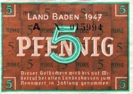 West Germany 5 Pfennig 1947 AU, Ro.208b/FBZ-1b - [ 5] 1945-1949 : Allies Occupation