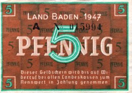 West Germany 5 Pfennig 1947 AU, Ro.208b/FBZ-1b - 1945-1949: Alliierte Besatzung