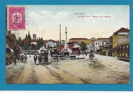 Place Eglise Caserne Beyrouth Beirut Lebanon Liban Syria Syrie Timbre Turc 20 CAD 1912 Ed Terzis - Lebanon
