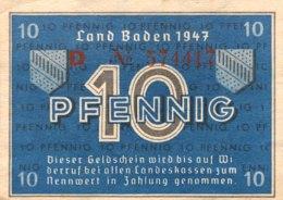 West Germany 10 Pfennig 1947 UNC, Ro.209d/FBZ-2d - [ 5] 1945-1949 : Bezetting Door De Geallieerden