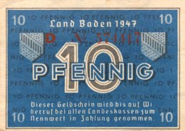 West Germany 10 Pfennig 1947 UNC, Ro.209d/FBZ-2d - [ 5] 1945-1949 : Allies Occupation