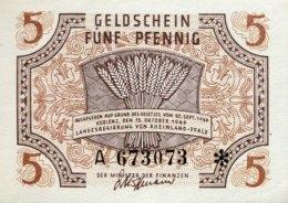 West Germany 5 Pfennig 1947 UNC, Ro.211/FBZ-4 - [ 5] 1945-1949 : Occupazione Degli Alleati